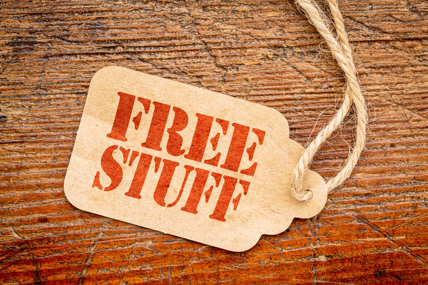Holiday freebies are a great way to cut costs around Christmas time.