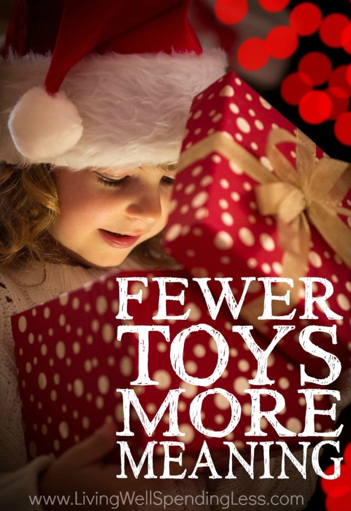 Fewer Toys, More Meaning Vertical