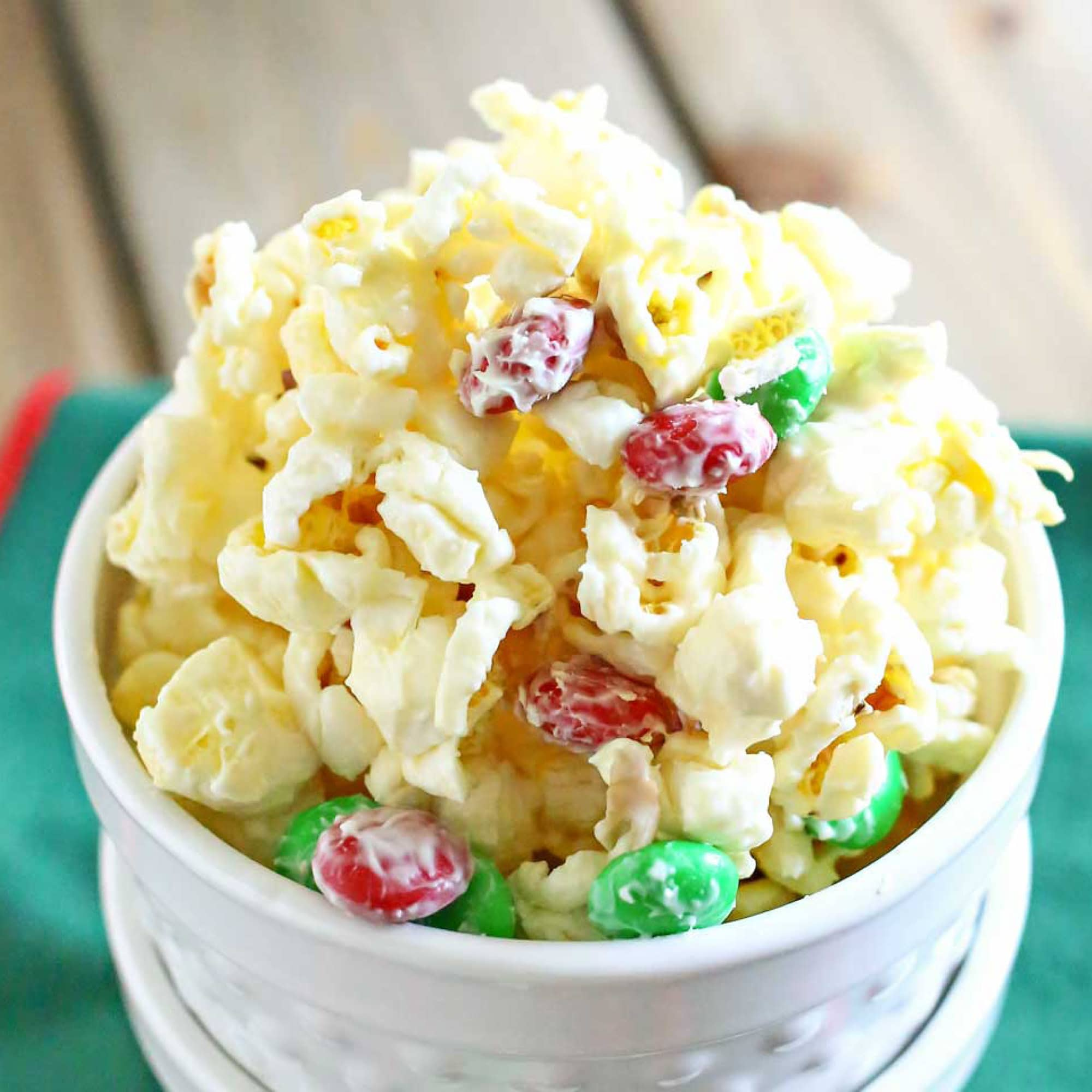 White Chocolate Holiday Popcorn | Living Well Spending Less®