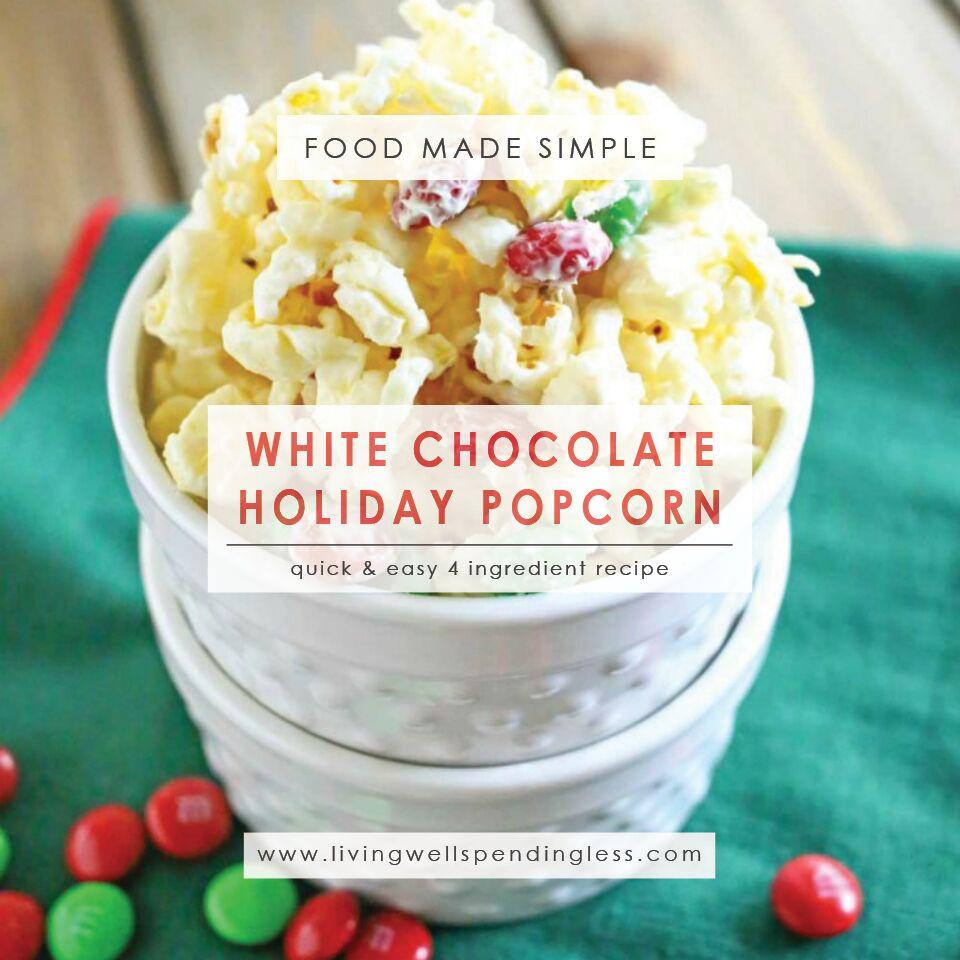white chocolate holiday popcorn white chocolate popcorn recipe yummy holiday popcorn 4 ingredient