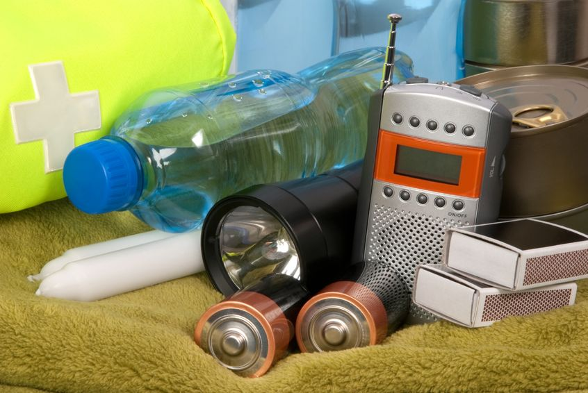 There are a few items you need to be prepared for an emergency--water, batteries, candles, a radio and flashlight.