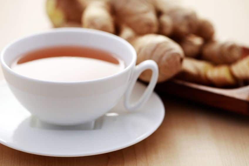 Ginger and warm water is a great natural home remedy for nausea and sore throats.