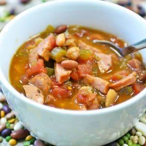 Big Easy Cajun Bean Soup | Freezer Crockpot Recipe | Slow Cooker Cajun Sausage Bean Soup | Slow Cooker Cajun | Freezer Meals | Crockpot Soup Recipe