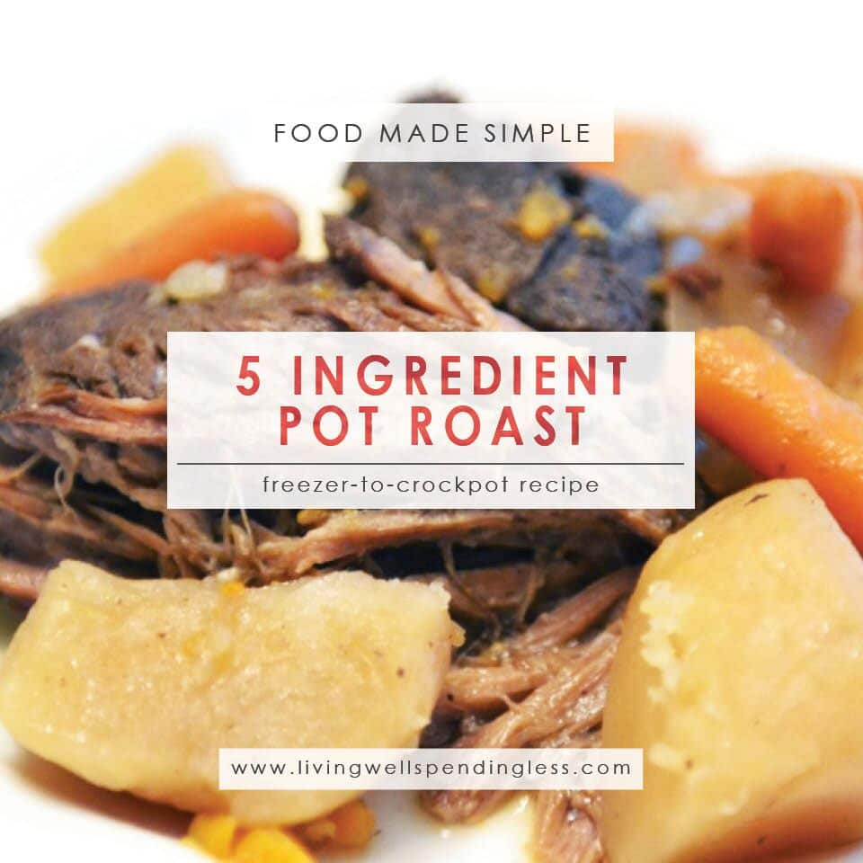 5 ingredient pot roast hearty delicious one pot meal for Cuisine 5 ingredients