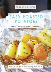 Easy Roasted Potatoes   5 Ingredients or Less   Food Made Simple   Meatless Meals  Side Dishes   Potato Recipes
