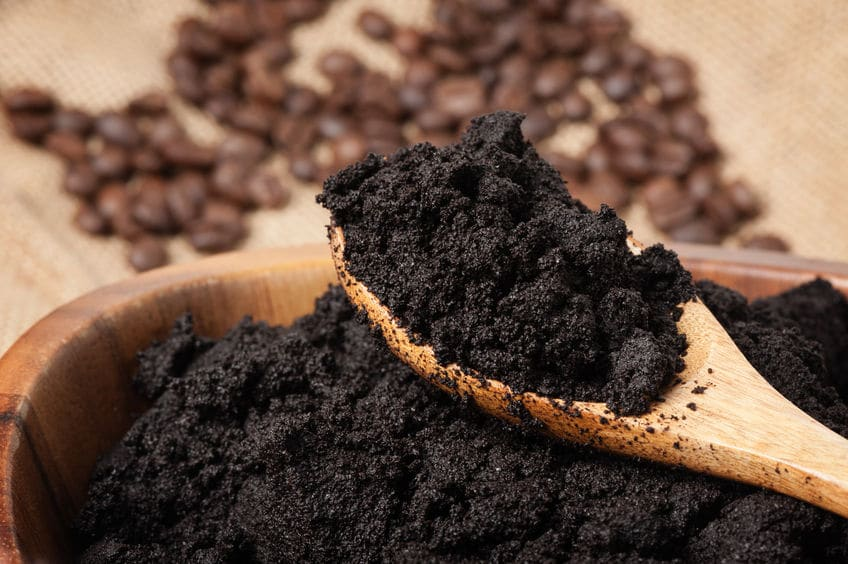 Coffee grounds are great for putting together your compost pile.