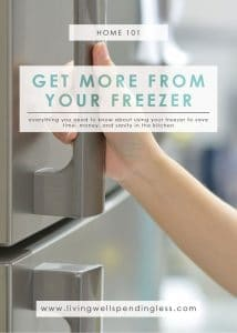 Get More Use Out of Your Freezer | Food Made Simple | Freezer Cooking | Freezer Meals | Meal Planning