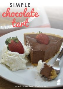 With just four basic ingredients, this ridiculously easy, decadently rich, (and breathtakingly delicious) Simple Chocolate Tart comes together in minutes. It has already become our go-to dessert for every gathering, and after just one bite I'm pretty sure you'll see why!