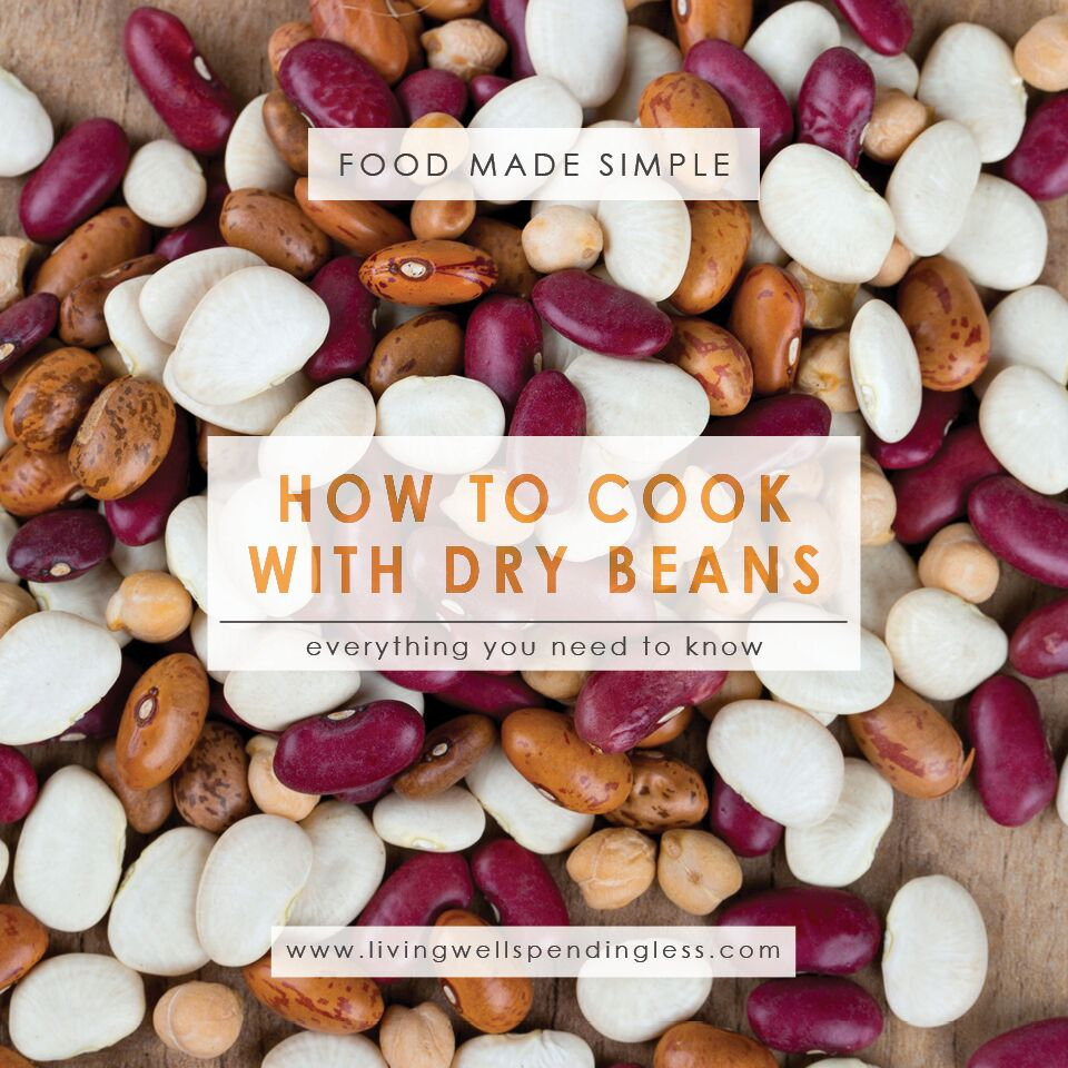 How to Cook with Dry Beans | Food Made Simple | Freezer Cooking | Main Course | Meatless Meals | Soup Recipes Stockpile Meals
