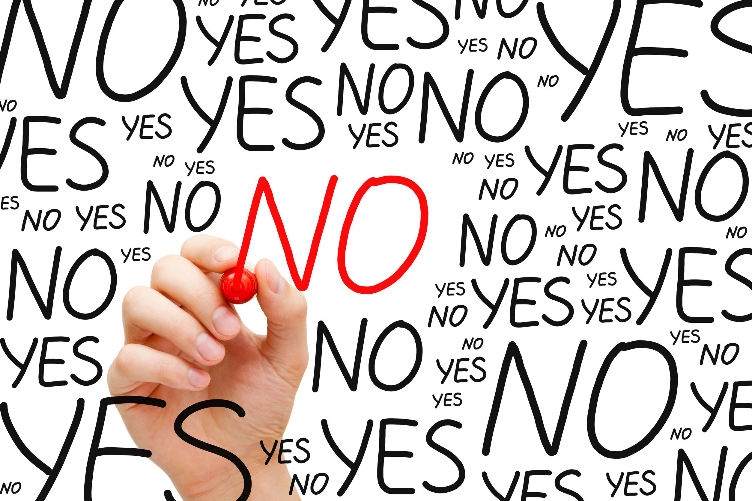 It's ok to say no sometimes, especially when it might help you stress less.
