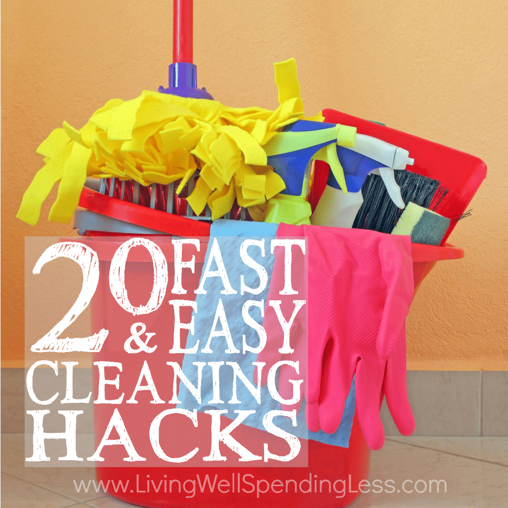 how to clean room fast and easy