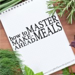Short on time? Learning how to cook ahead can save you hours--and lots of aggravation--in the kitchen, especially during a busy season of life. Don't miss these helpful tips for how to master make-ahead meals--it might just change your life!