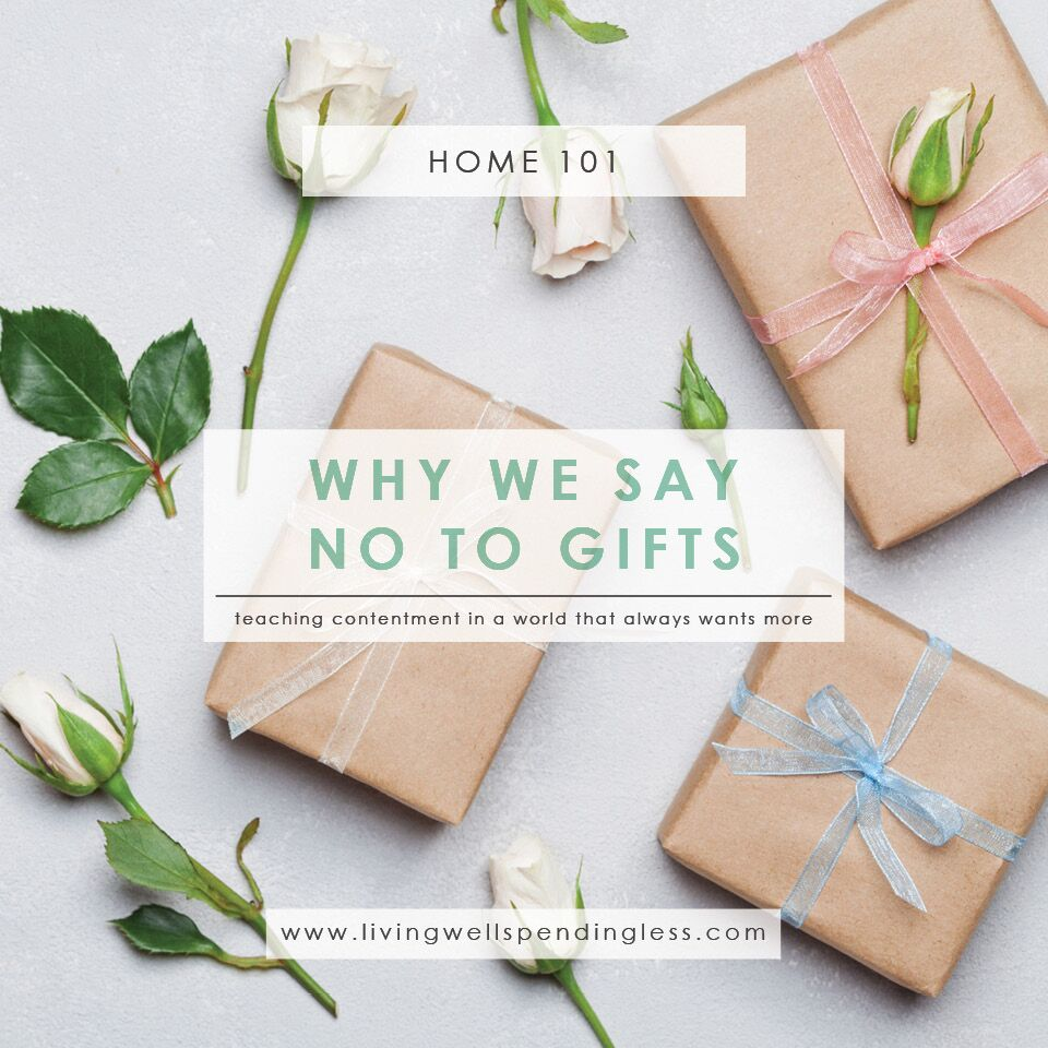 Why We Say No to Gifts | How to Say No to Birthday Presents