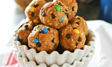 No Bake M&M Cookie Balls