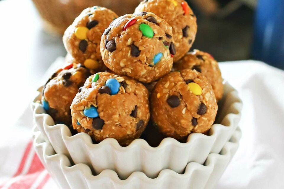 No Bake M&M Cookie Balls
