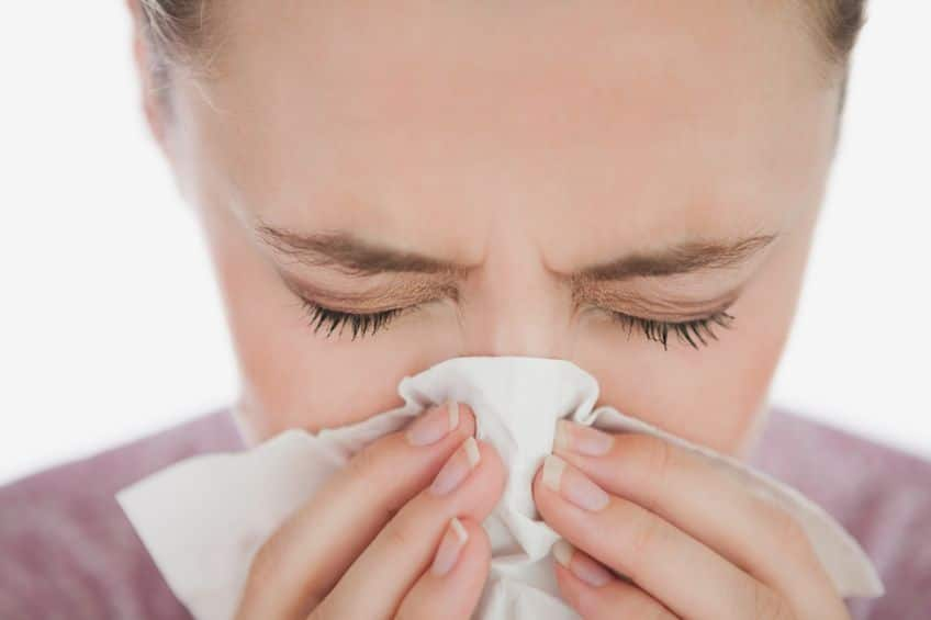 Getting a cold or case of the sniffles may be a sign you're pushing yourself too hard.