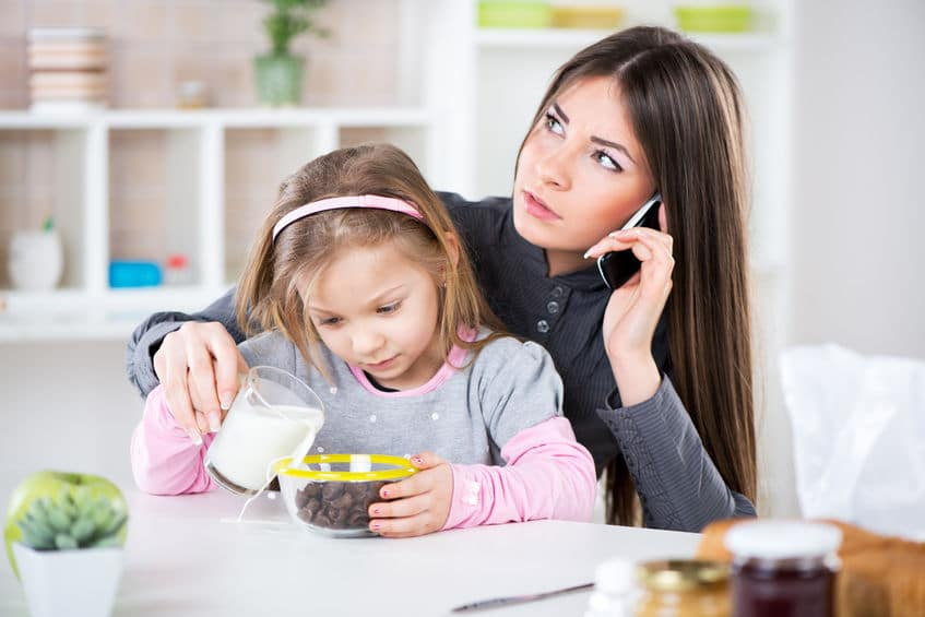 Are you multi-tasking too much? Talking on the phone, trying to help your kids fix breakfast and feeling frazzled?