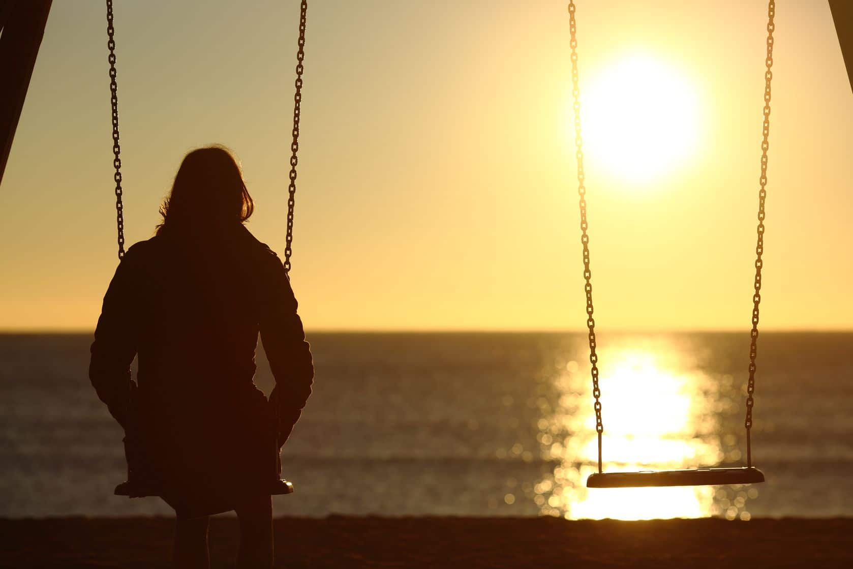Sometimes stress can make us feel alone, like we're a kid again, sitting on the swings at the playground, staring into the sunset.