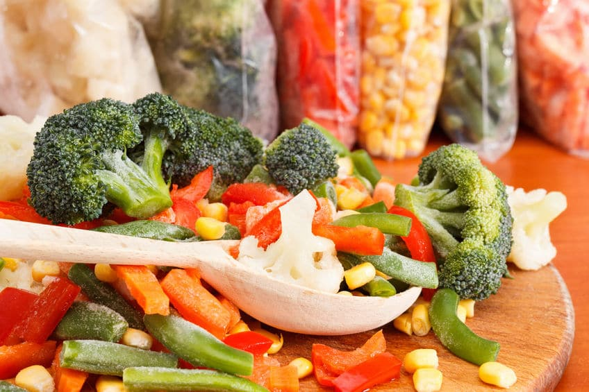 Chopped and frozen vegetables can make cooking so much faster!