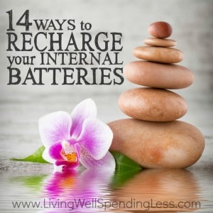 """Feel like you are running on empty? Taking a mental break to rest and recharge is one of the most important things we can do for our health and our sanity. Luckily """"getting away"""" is easier and less expensive than you might think! Keep this list handy for the next time you need to recharge your internal batteries--your well-being might just depend on it!"""