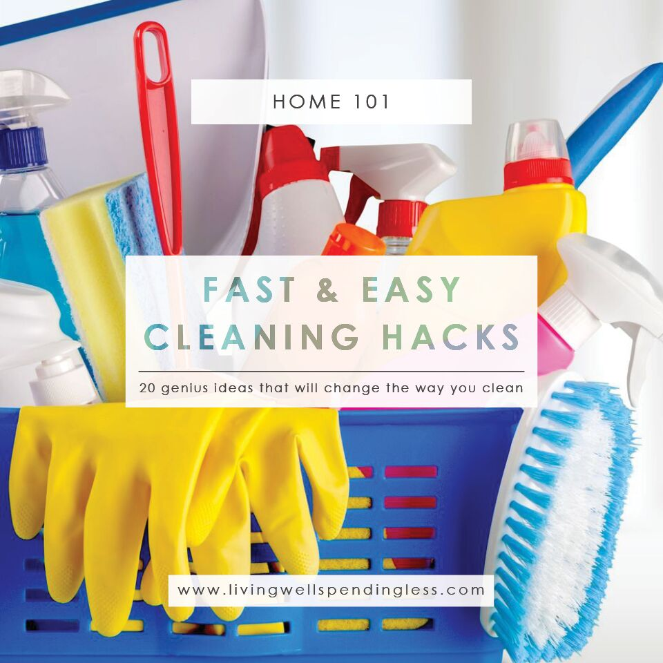 20 fast & easy cleaning hacks | genius cleaning tricks