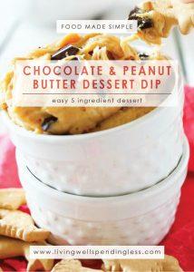 Chocolate & Peanut Butter Dessert Dip   Dessert   Food Made Simple   Snacks & Starters