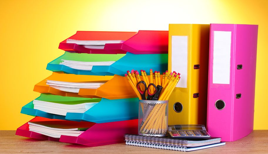 Organize your papers and supplies to avoid clutter.