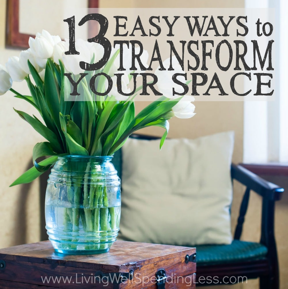 Ever wish you could hit the reset button on your home? Whether you are short on time, short on energy, or short on cash, these 13 easy ways to transform your space might be just the pick-me-up you need! Don't miss these quick wins for breathing new life into your tired space, starting today!