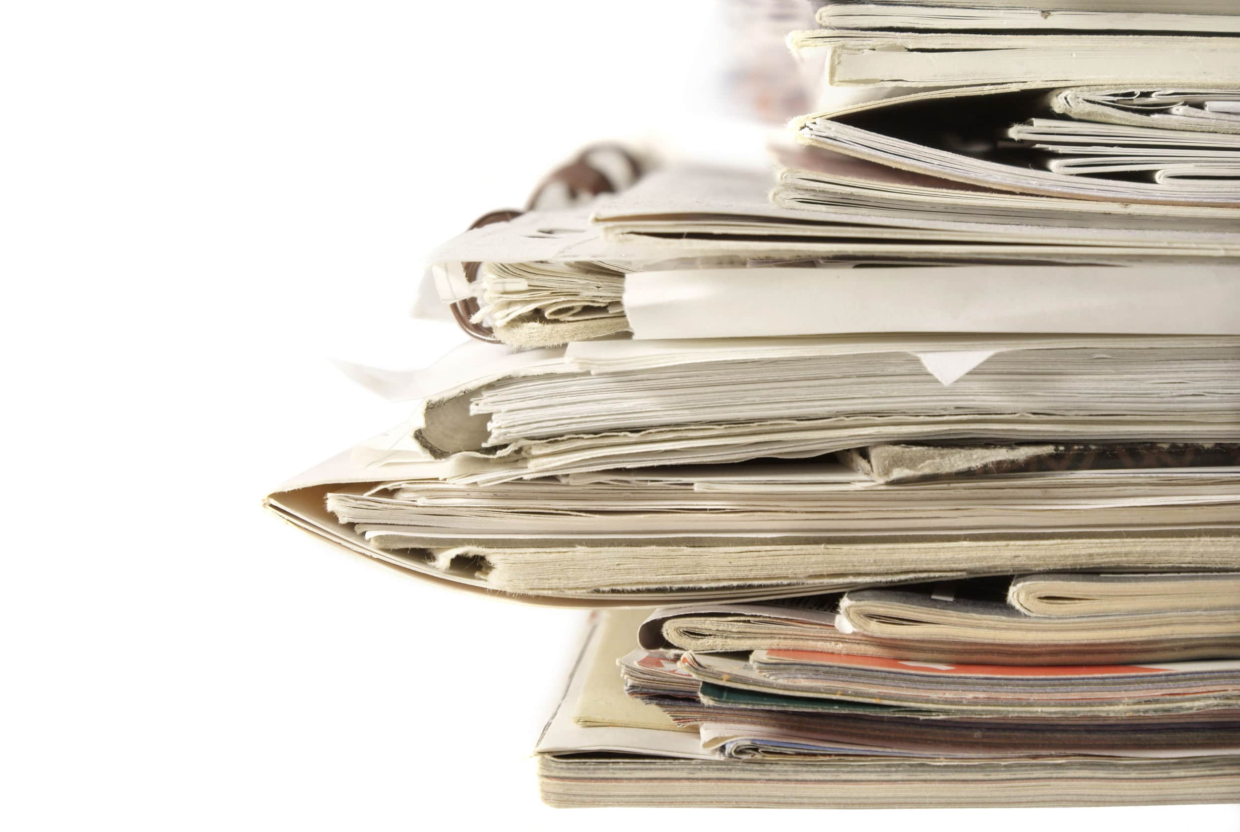 Too many papers can pile up and add clutter.