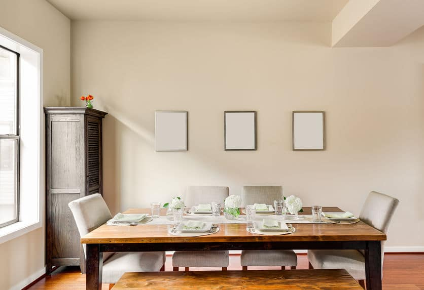 Decorating your dining table will elevate the room's decor.