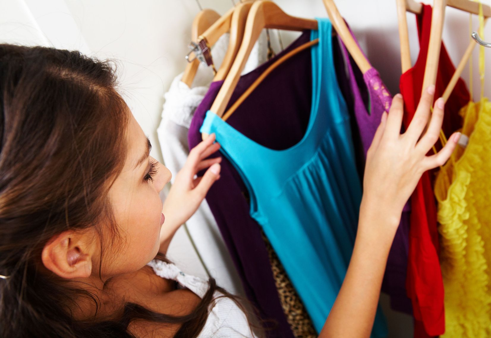 Clothes can be tough to declutter, but look through each item hanging in your closet and decide which ones you love.
