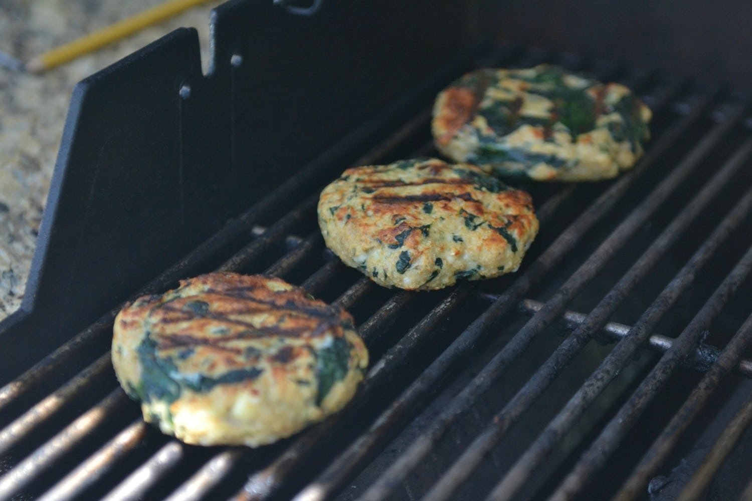 These moist and juicy turkey burgers cook up beautifully on the grill.