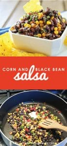 Craving a little Tex Mex flavor with no time to cook? This delicious Corn & Black Bean salsa comes together in just minutes using just five easy ingredients! Perfect for potlucks, after-school snacks, or maybe just because! Yum!!