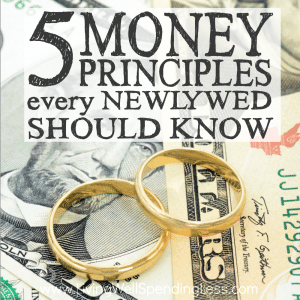 While we all want to believe that love will conquer all, the reality is that nothing brings the honeymoon to a screeching halt like financial issues. Whether you are newly married, about to marry, or simply wanting to keep the spark alive, don't miss these five money principles every newlywed should know! Your marriage might just depend on it!