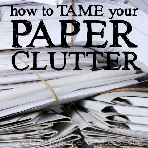 How to Tame Your Paper Clutter