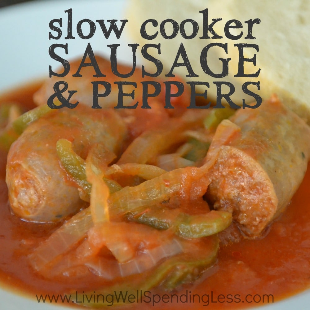 Slow Cooker Sausage & Peppers