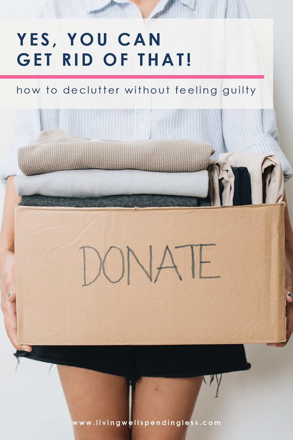 Ever struggle with feeling guilty about getting rid of stuff? You are not alone! Stuff guilt is one of the biggest obstacles to living clutter free. Don't miss these tips on how to get rid of stuff guilt, and clear the clutter for good! #decluttering #mariekondo #tidyingup #unstuffed #cleaning #declutter #hometips #cleaningtips