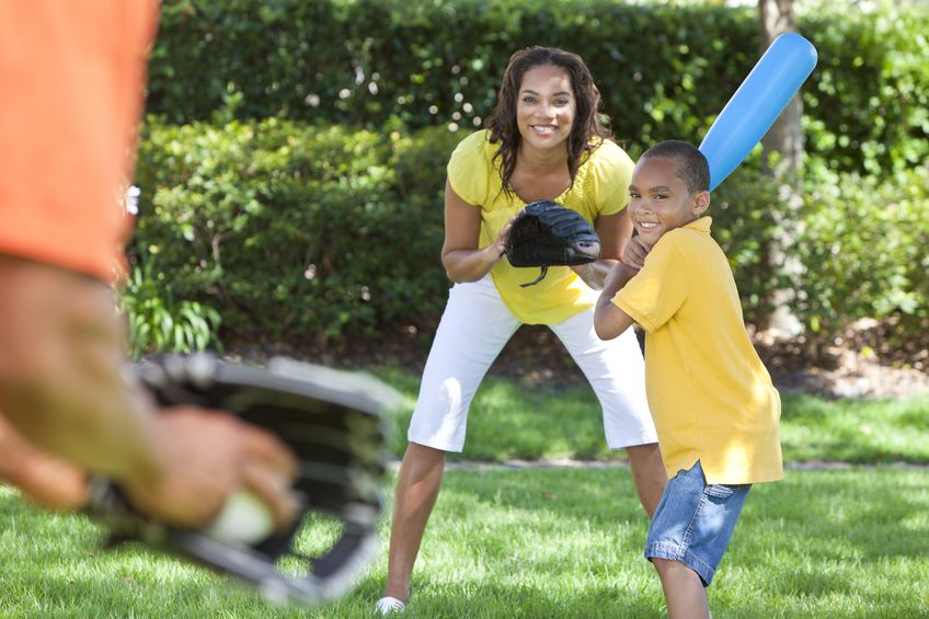 Playing games as a family are great ways to stay fit.