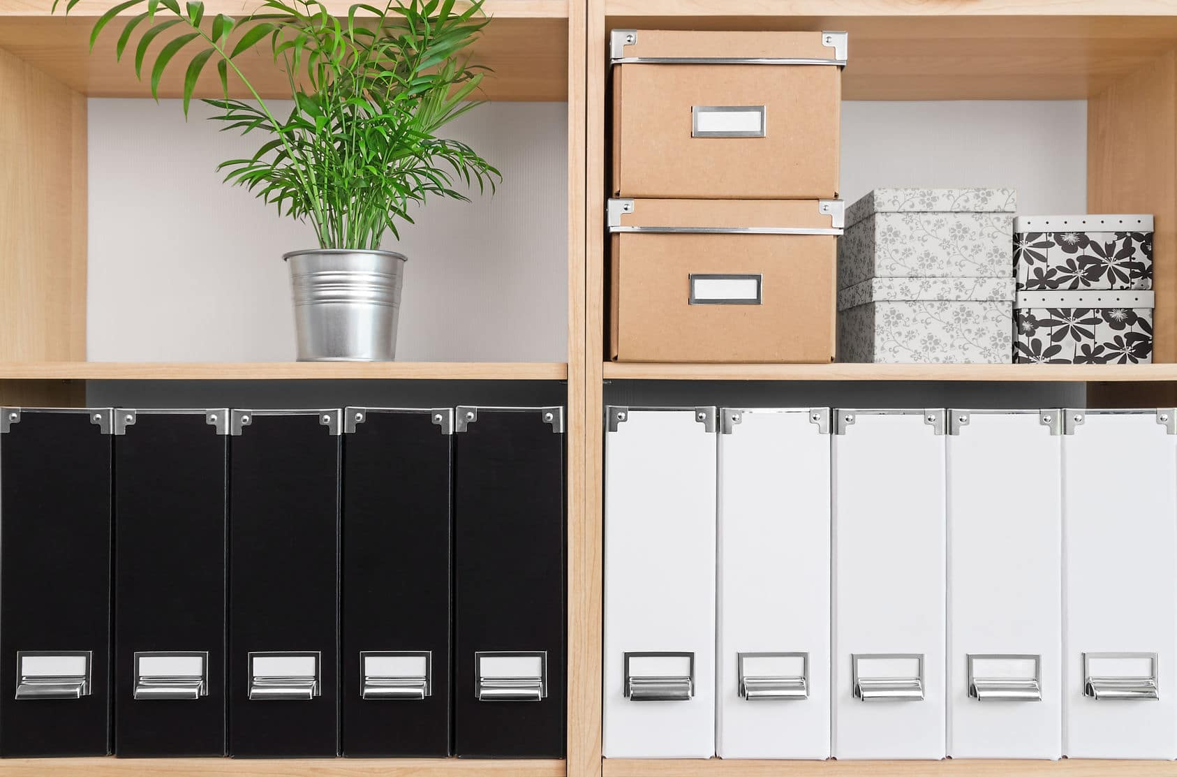 Invest in uniform storage, helps your organized stuff look better.