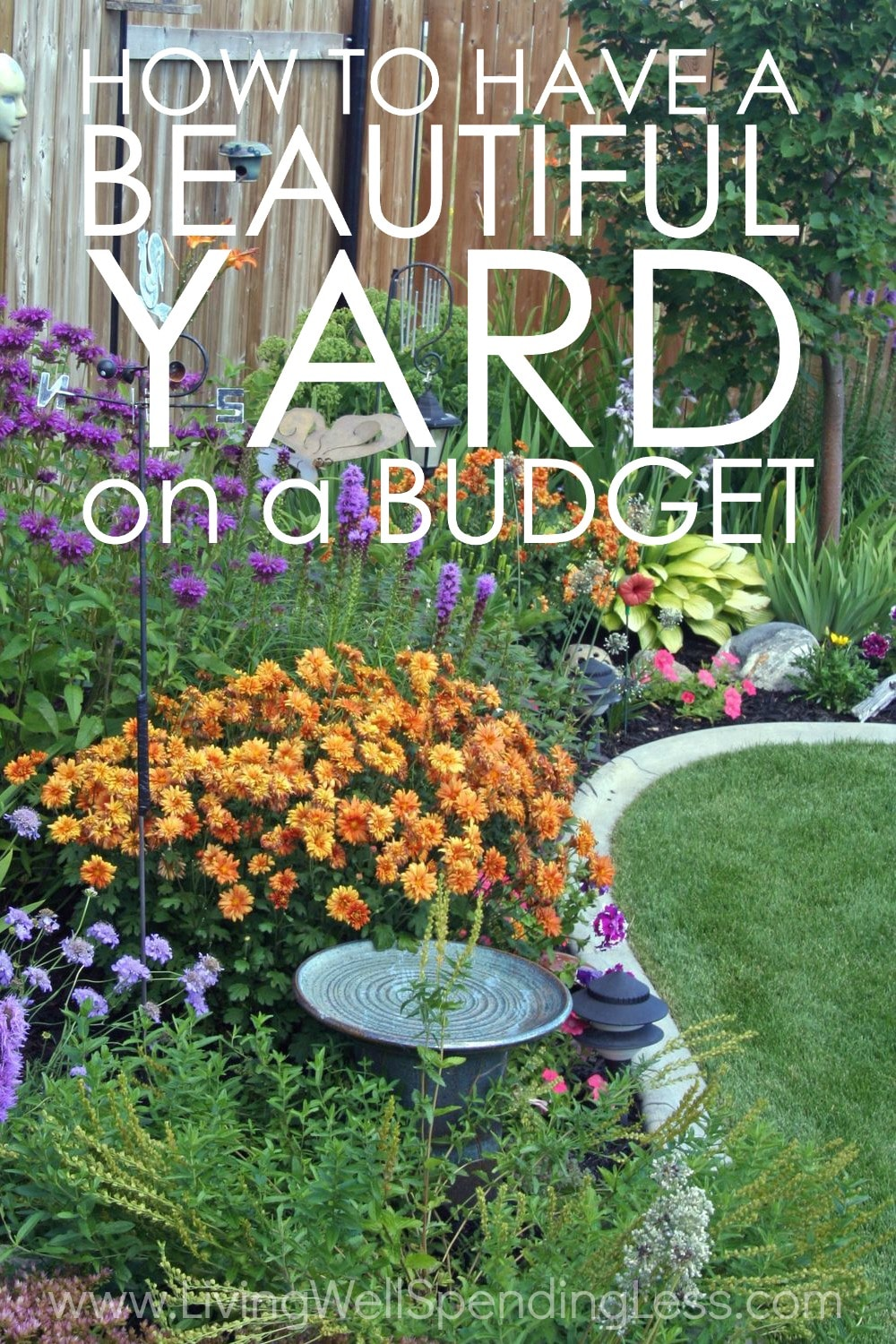 How to have a beautiful yard on a budget for Cheap beautiful garden ideas