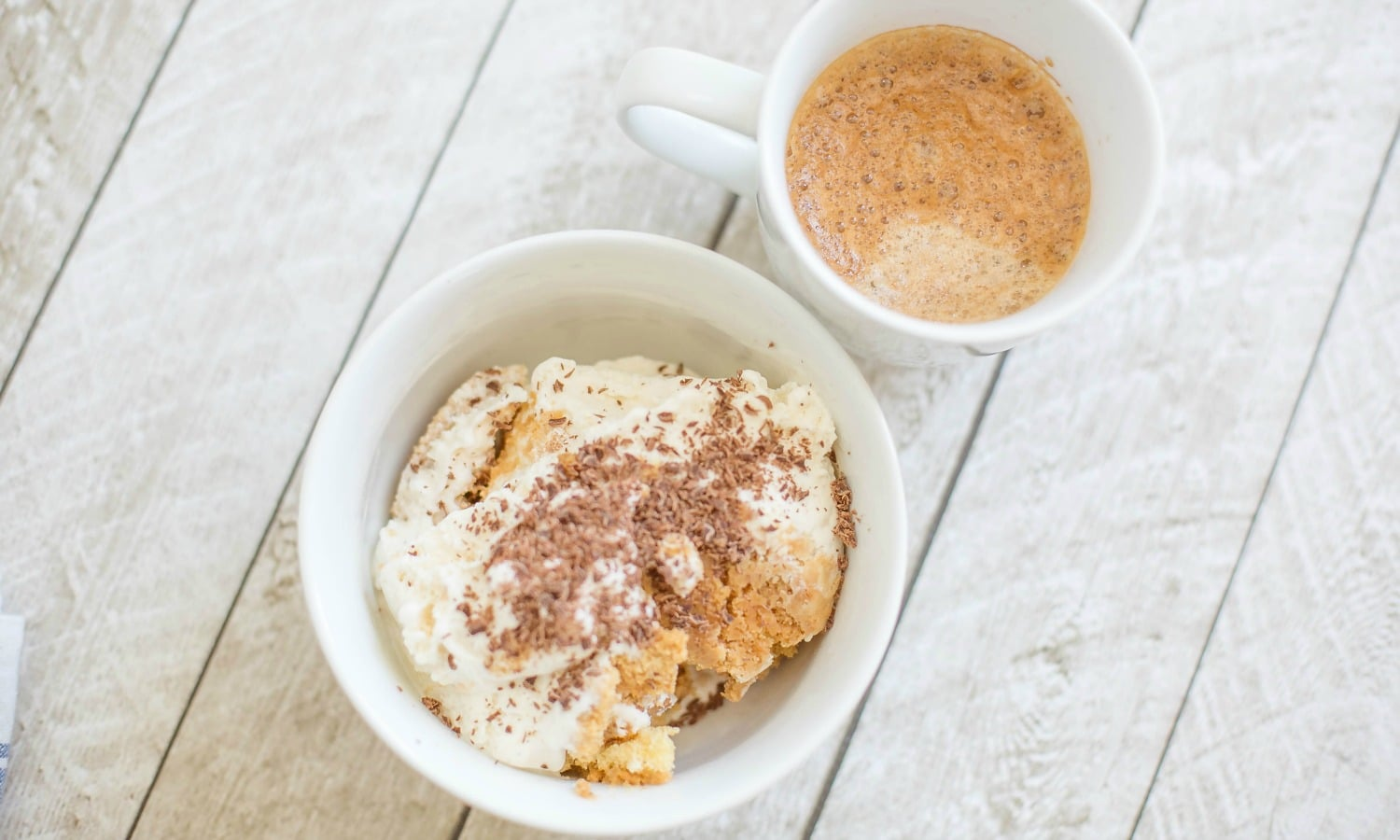 Serve coffee cookie ice cream with a cup of coffee.