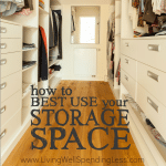 How to best use storage space Square