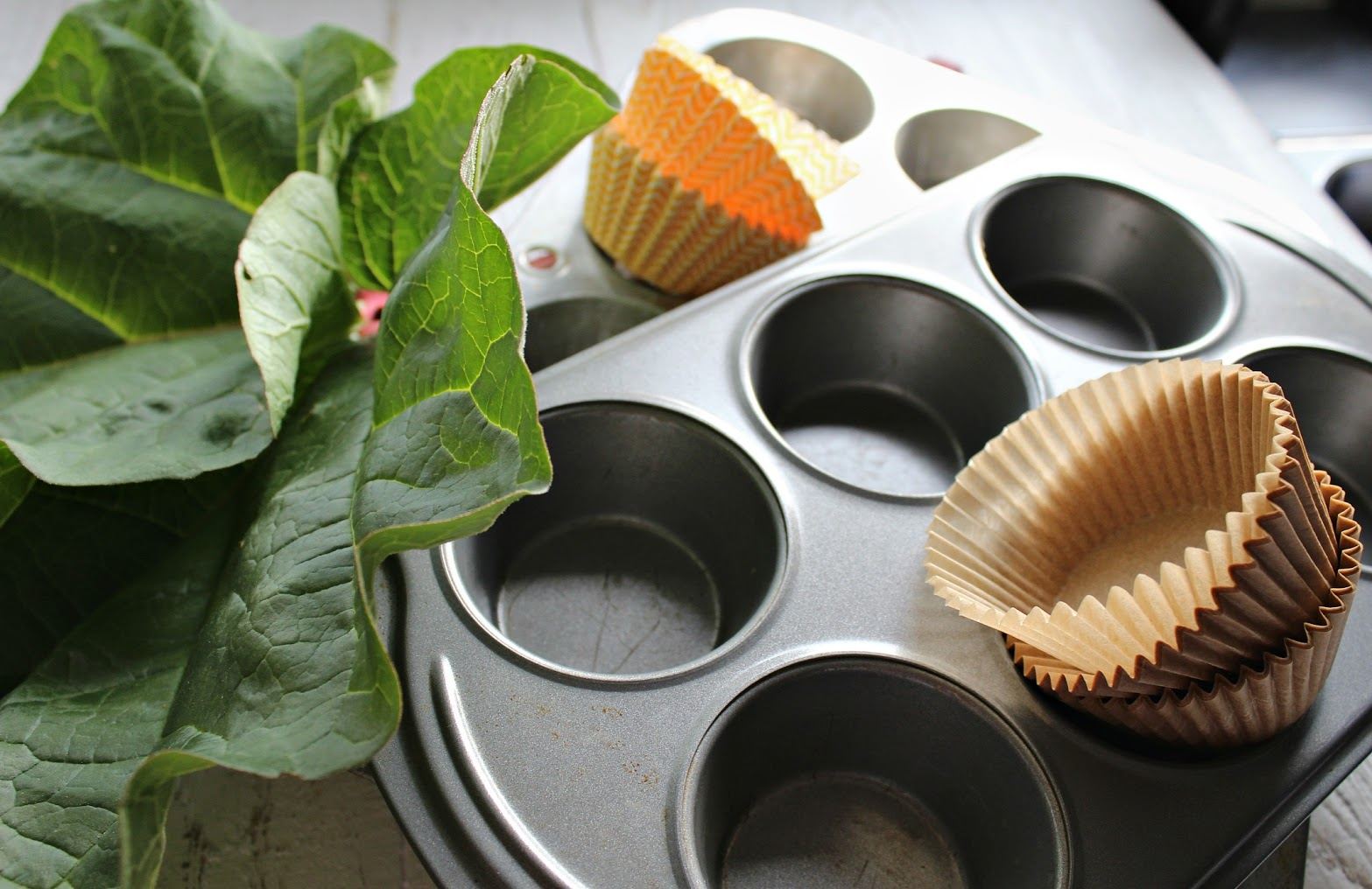 Divide the batter equally into muffin liners in muffin tins and bake.