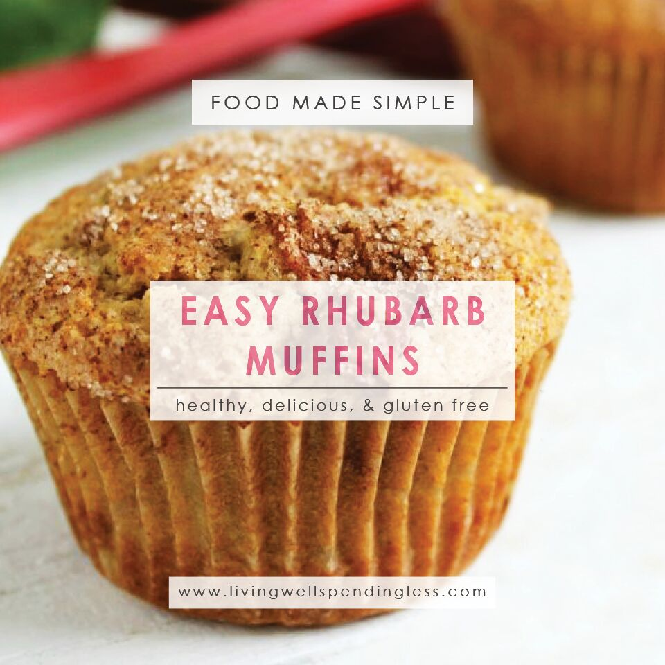 Easy Rhubarb Muffins | Breakfast Meals | Food Made Simple | Healthy Options