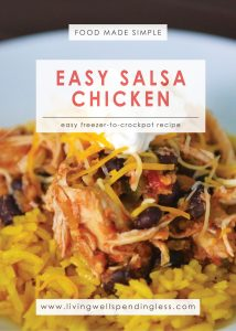 Easy Salsa Chicken   Food Made Simple   Freezer Cooking   Main Course Meat   Chicken Recipe   Simple Salsa Chicken Recipe