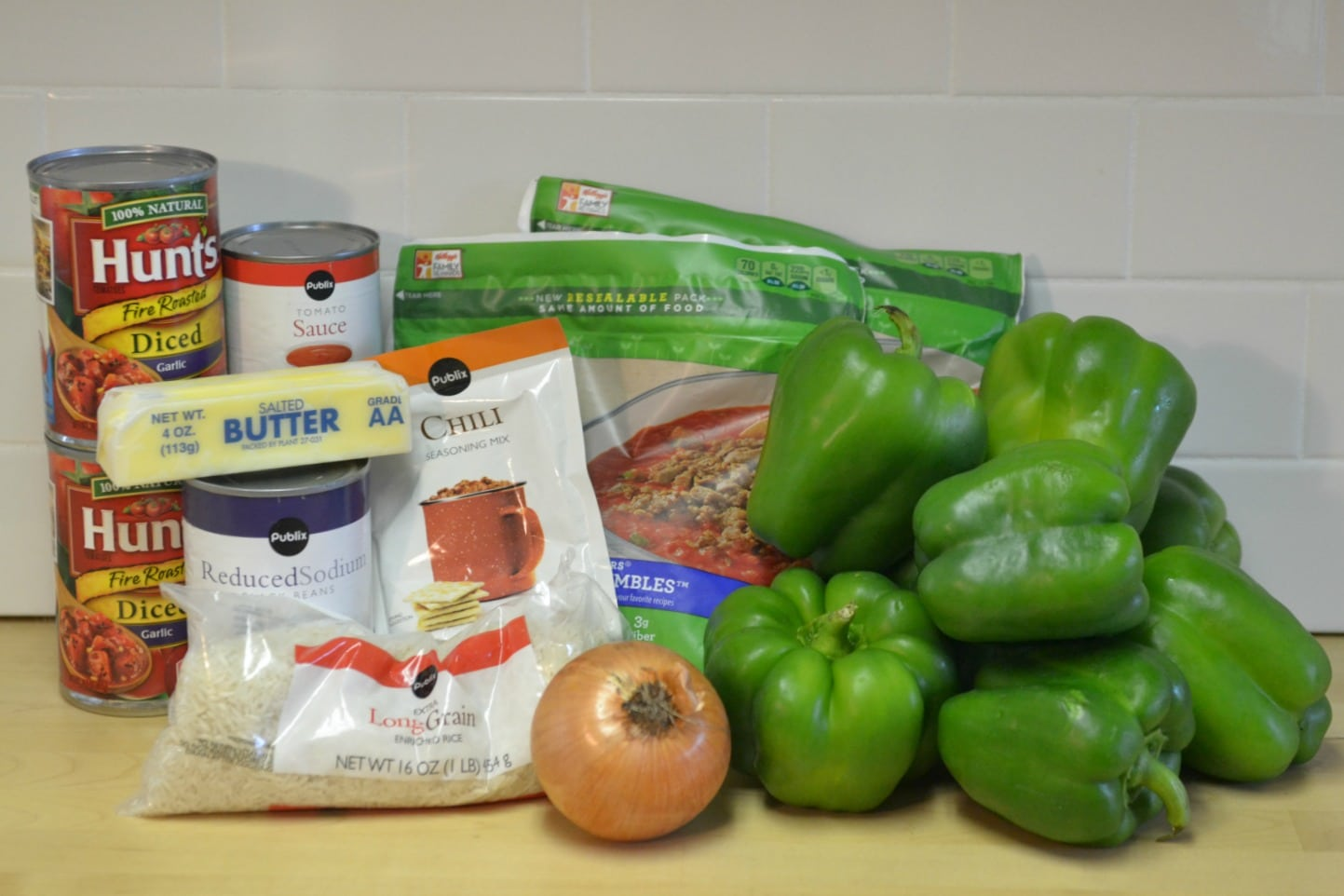 Slow Cooker Stuffed Peppers ingredients