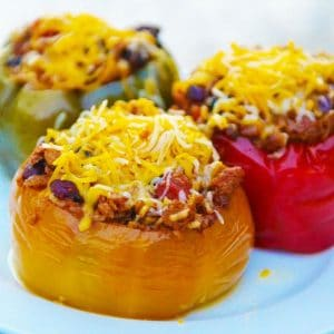 Slow Cooker Stuffed Peppers | 10 Meals in an Hour | Freezer Cooking | Meatless Meals