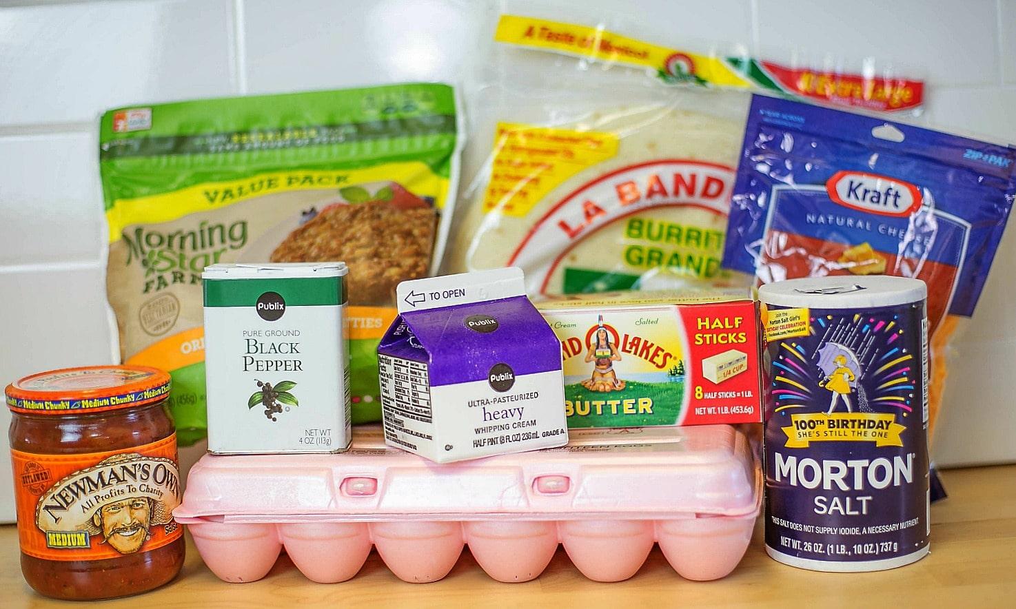 Make-Ahead Breakfast Burritos ingredients