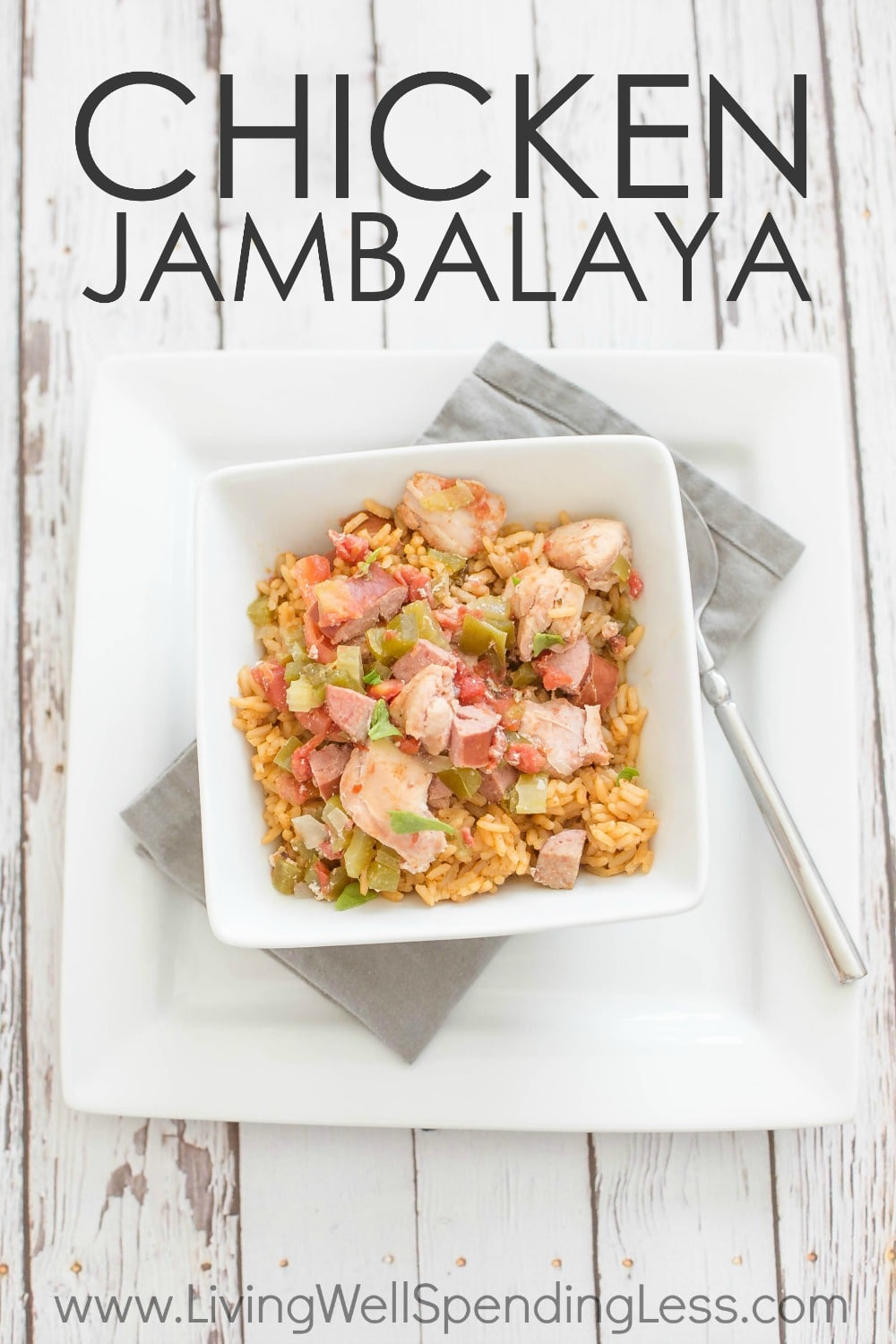 "Ready for a brand new flavor-packed recipe that whips up fast? This delicious and colorful chicken jambalaya our newest favorite ""cheater"" freezer recipe--easy, delicious, and practically mess-free. Better yet, it goes straight from the freezer to crockpot for an effortless weeknight meal that your whole family will love!"