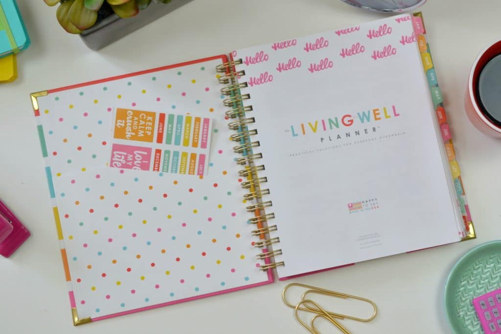 The Living Well Planner is beautiful, functional and the perfect way to get organized.